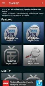 ThopTV APK (Live TV/Cricket) v26.0 1